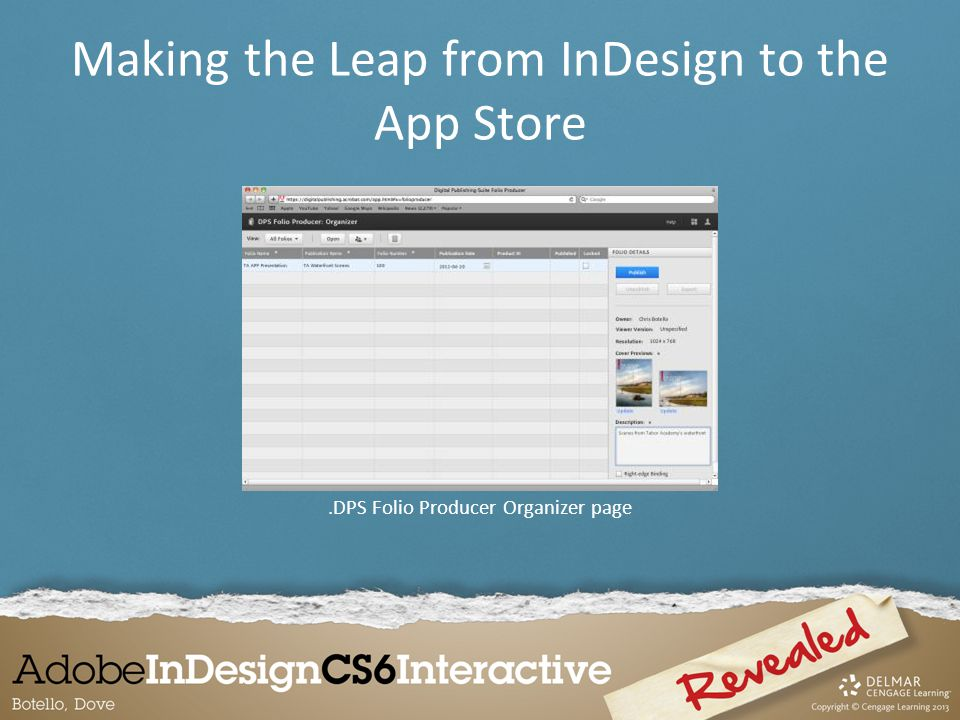 .DPS Folio Producer Organizer page Making the Leap from InDesign to the App Store