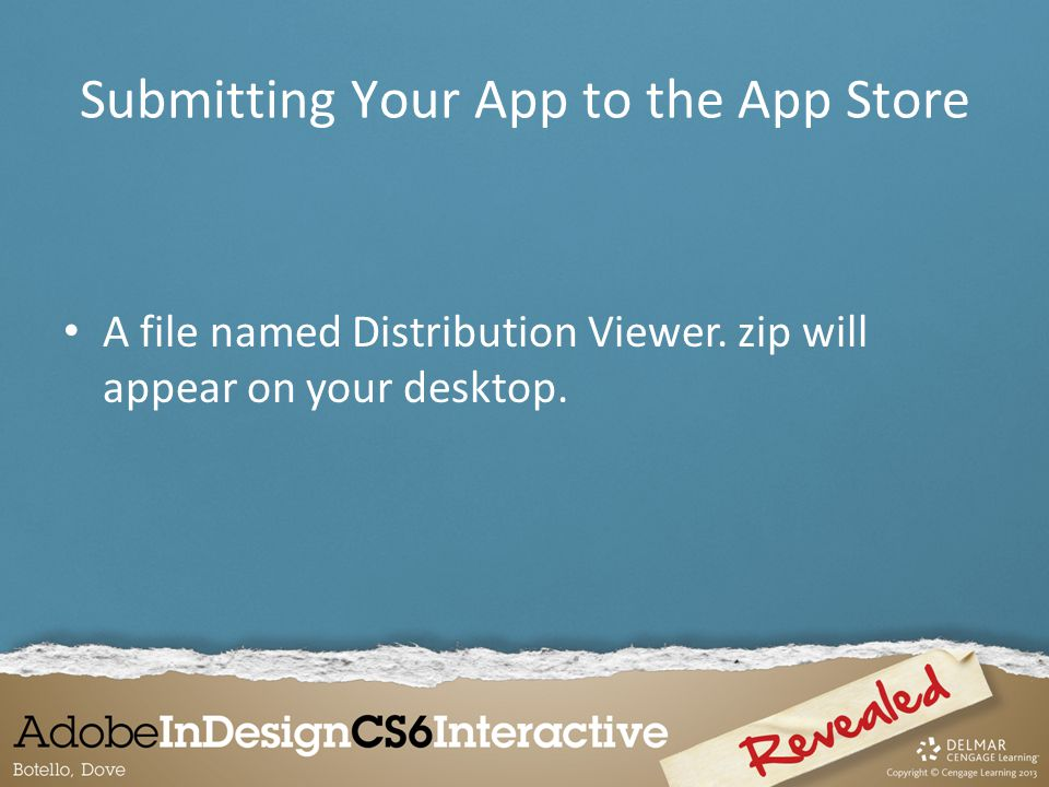 A file named Distribution Viewer. zip will appear on your desktop.