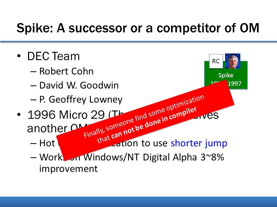 Spike: A successor or a competitor of OM DEC Team – Robert Cohn – David W.