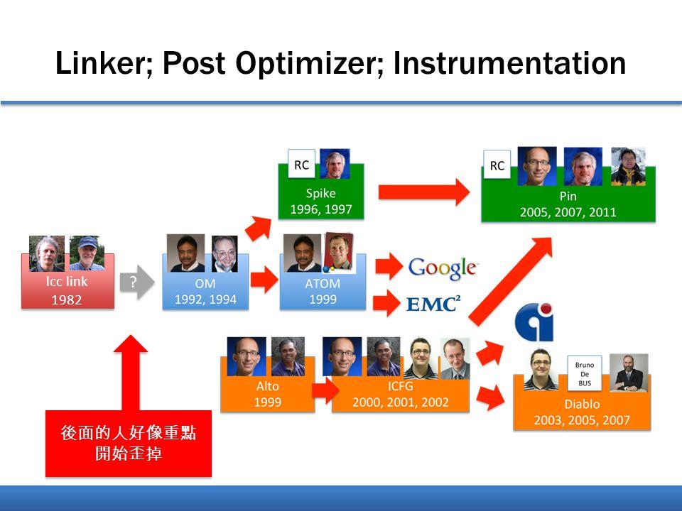 Linker; Post Optimizer; Instrumentation lcc link 1982 後面的人好像重點 開始歪掉