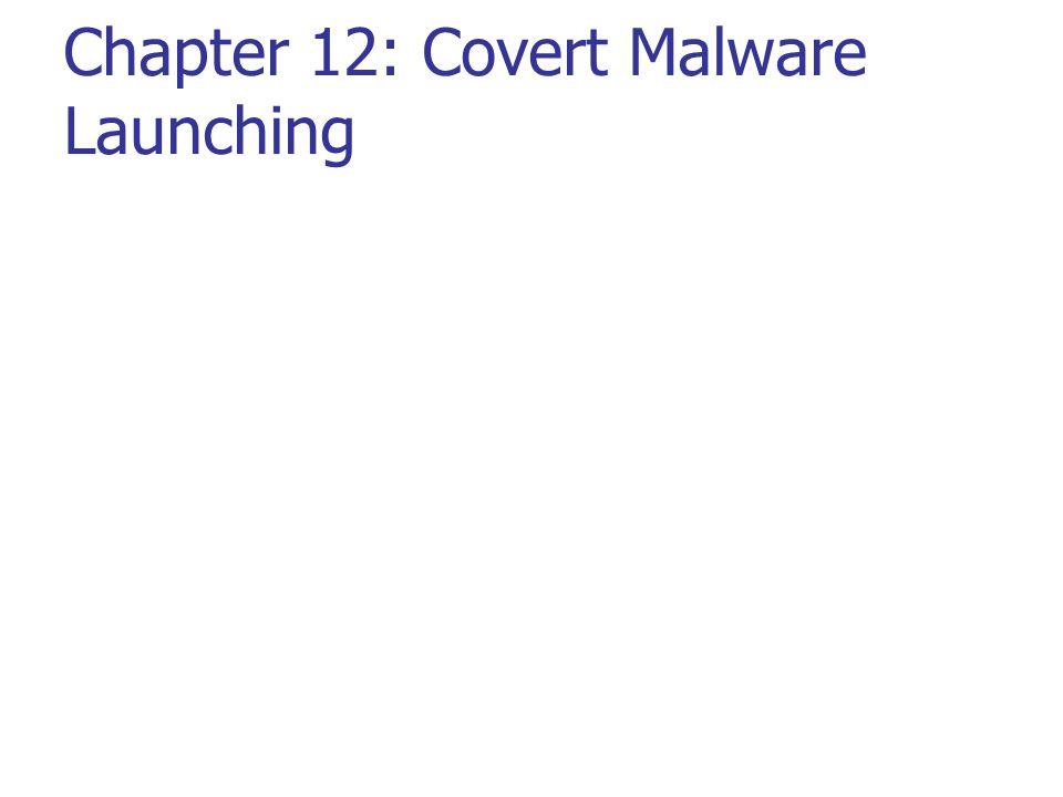 Chapter 12: Covert Malware Launching