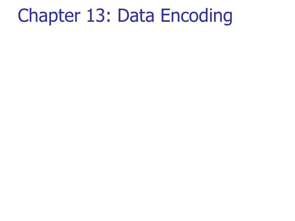 Chapter 13: Data Encoding
