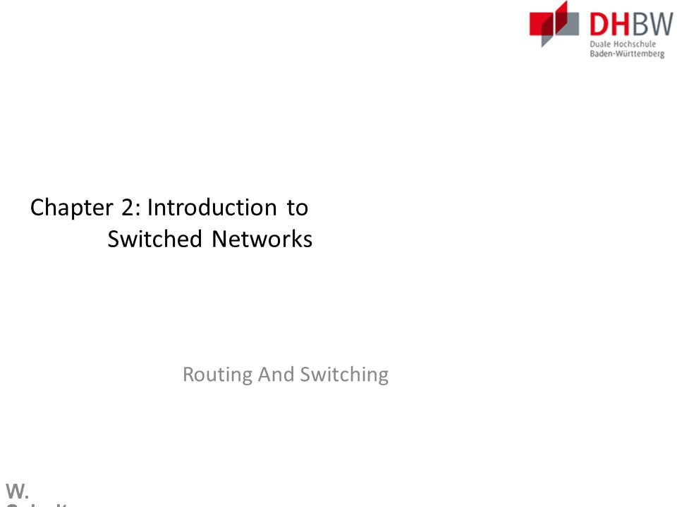 W. Schulte Switch Port Security Network Time Protocol (NTP)  Configuring NTP
