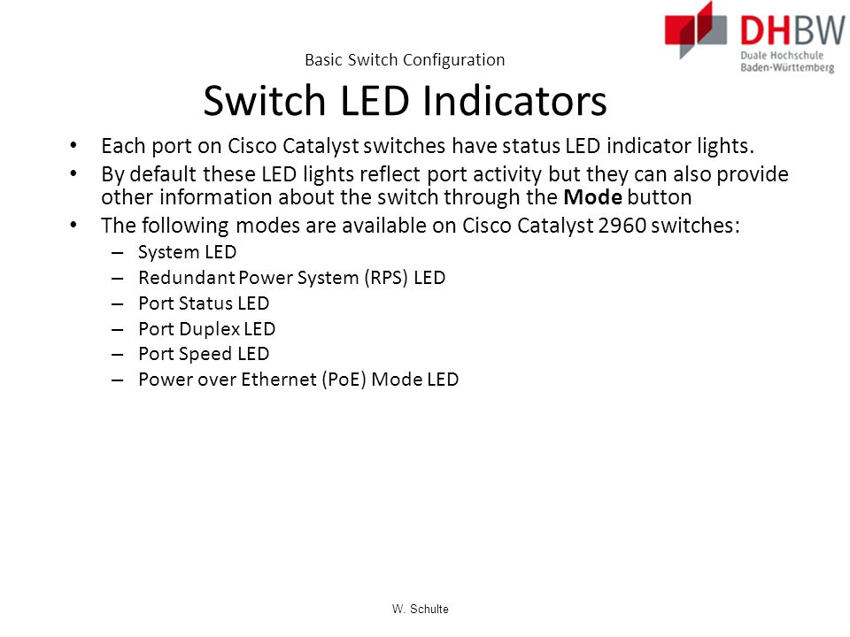 W. Schulte Security Concerns in LANs MAC Address Flooding  The switch now behaves as a hub