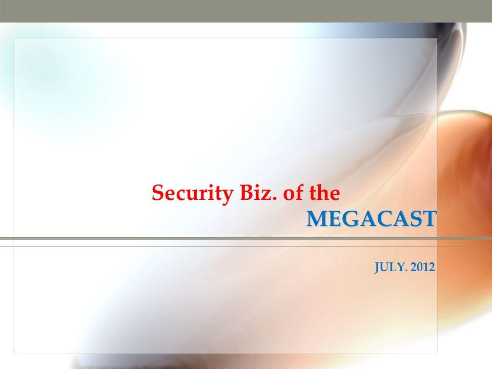 MEGACAST Security Biz. of the MEGACAST JULY. 2012
