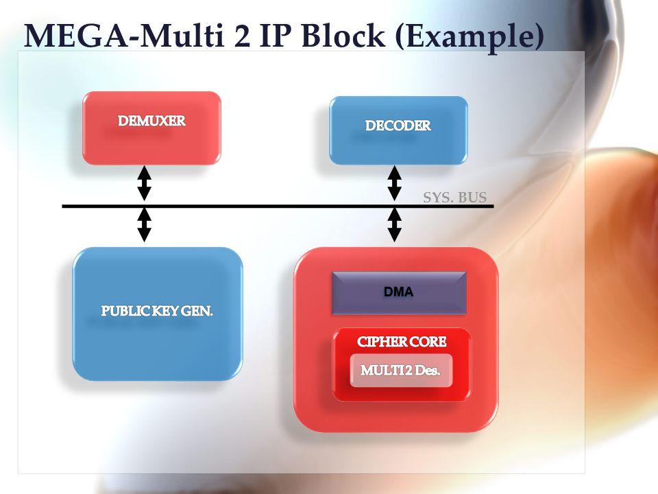 DMADMA SYS. BUS MEGA-Multi 2 IP Block (Example)