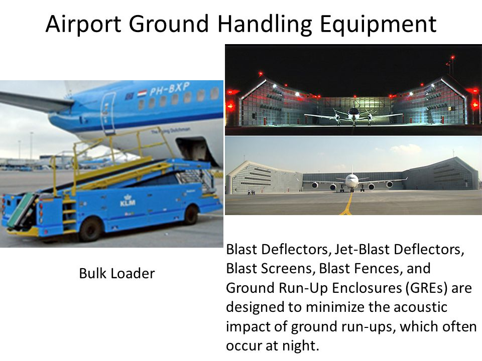 Airport Ground Handling Equipment Bulk Loader Blast Deflectors, Jet-Blast Deflectors, Blast Screens, Blast Fences, and Ground Run-Up Enclosures (GREs) are designed to minimize the acoustic impact of ground run-ups, which often occur at night.