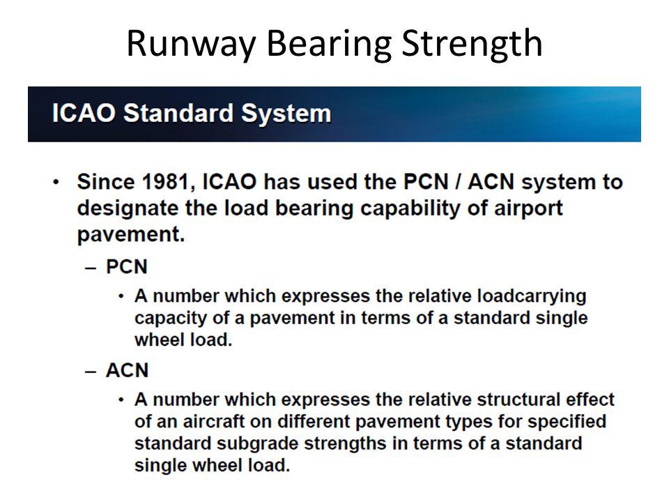 Runway Bearing Strength