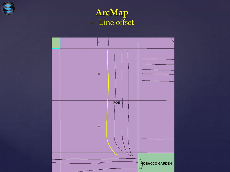 ArcMap -Line offset