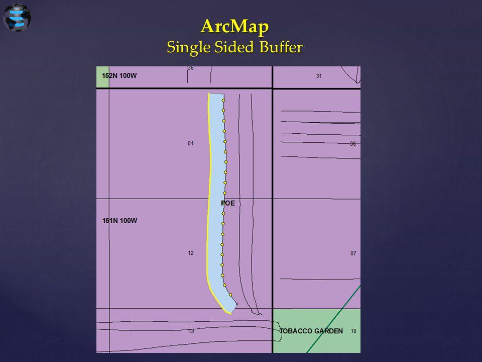 ArcMap Single Sided Buffer
