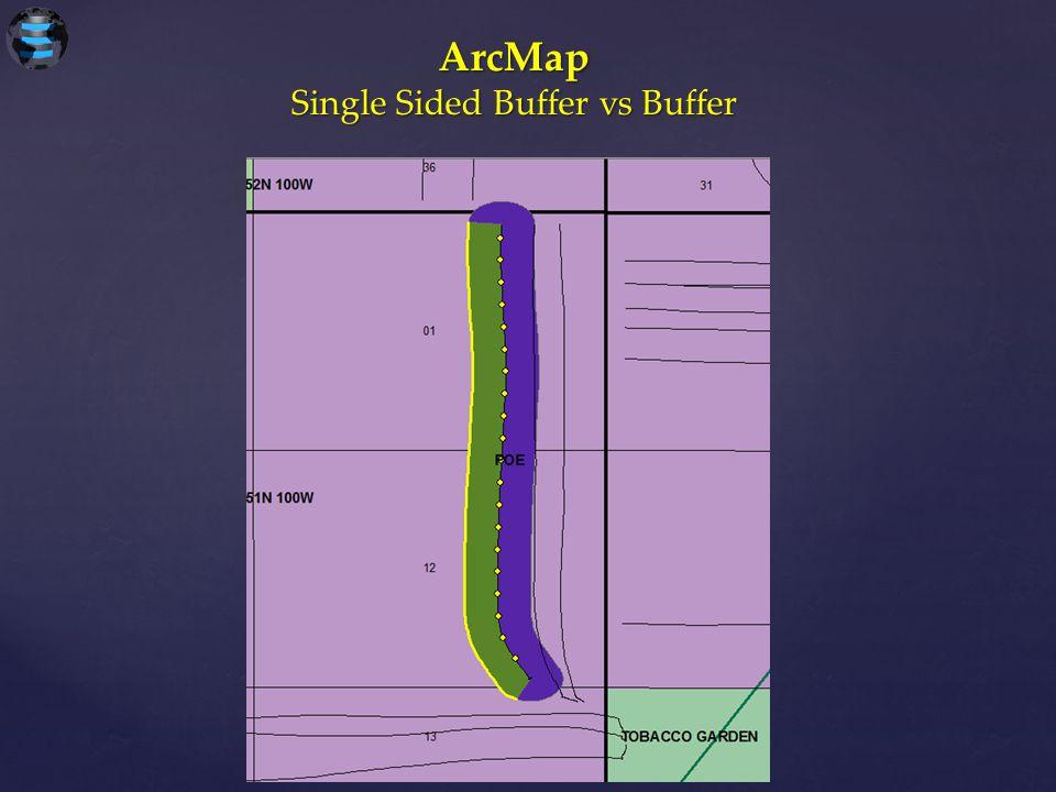 ArcMap Single Sided Buffer vs Buffer
