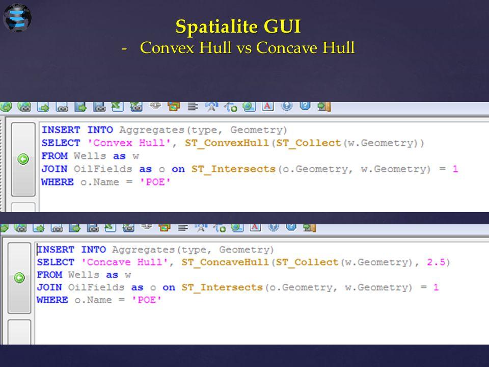Spatialite GUI -Convex Hull vs Concave Hull