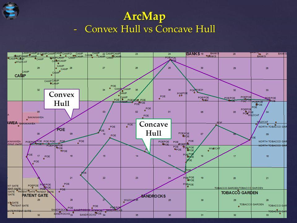 ArcMap Convex Hull Concave Hull