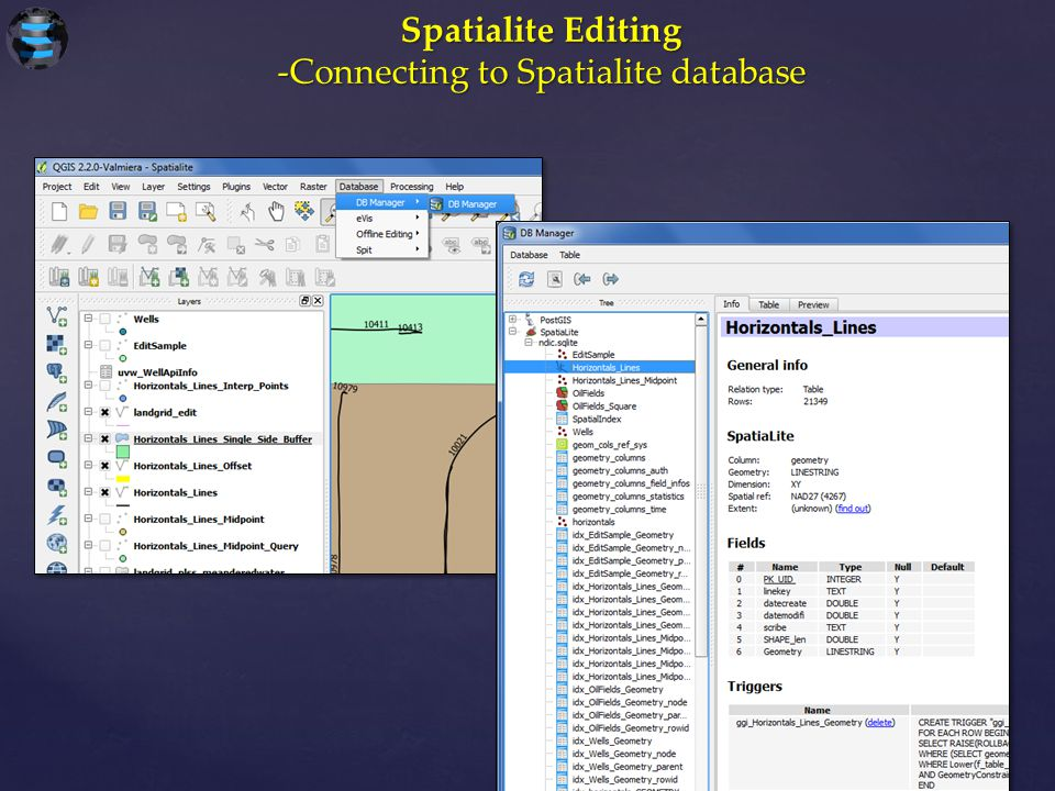 Spatialite Editing -Connecting to Spatialite database