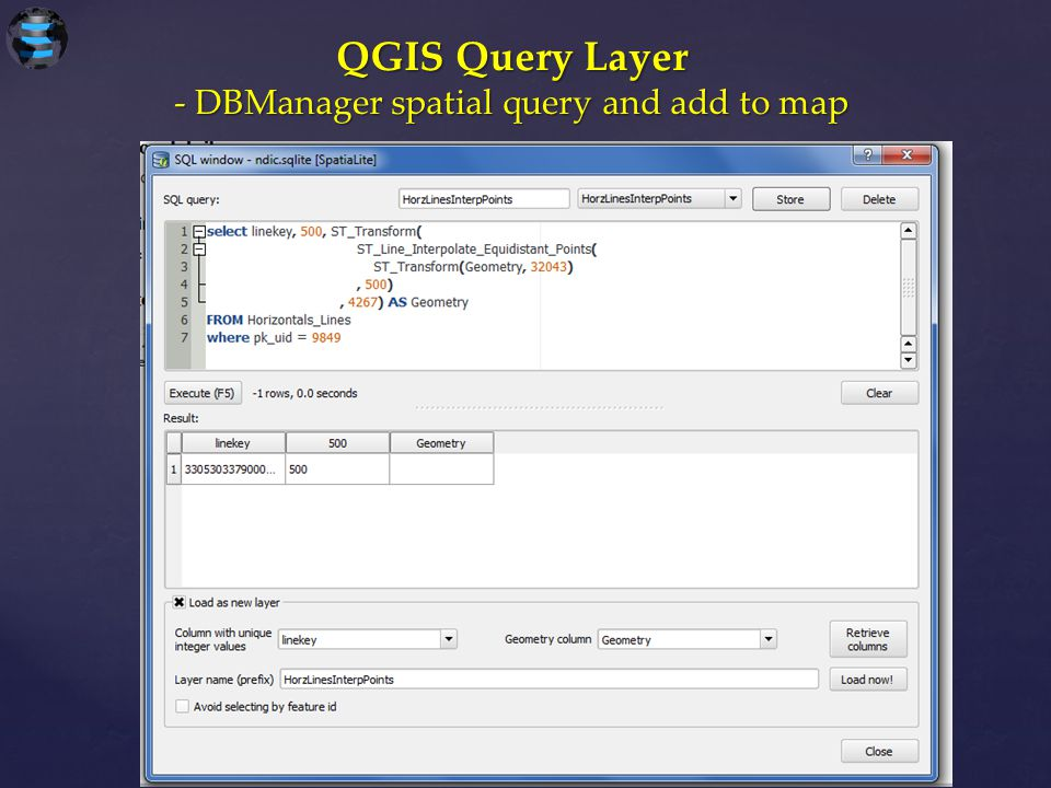 QGIS Query Layer - DBManager spatial query and add to map