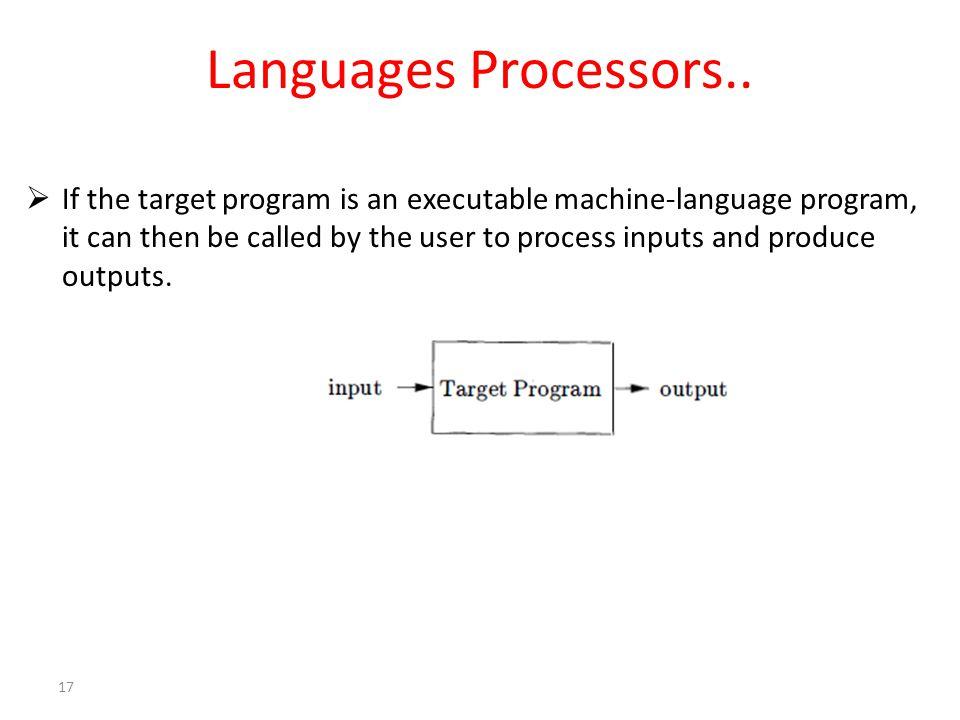 Languages Processors..