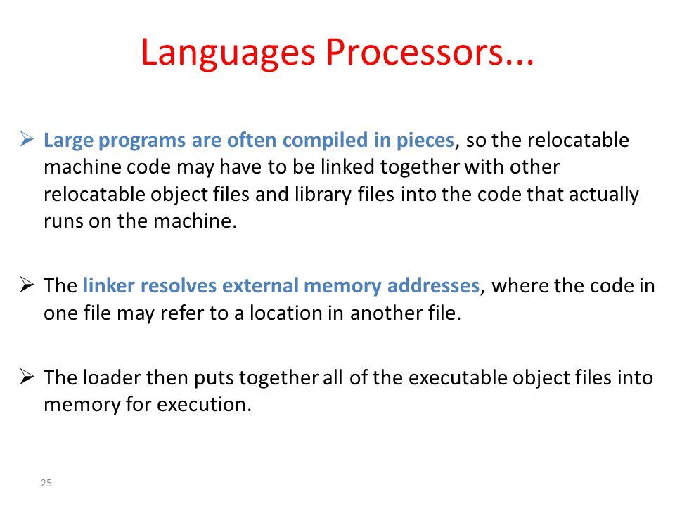 Languages Processors...