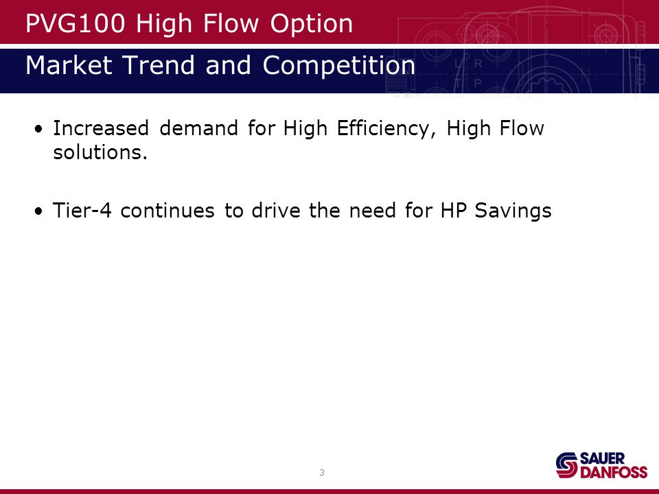 4 PVG100 High Flow Option Introduction- Review Flow from a post- compensated valve is dependent upon pump margin.
