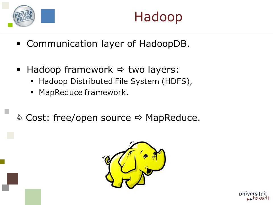  Communication layer of HadoopDB.