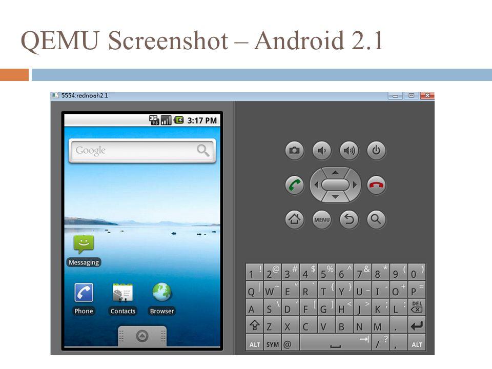 QEMU Screenshot – Android 2.1