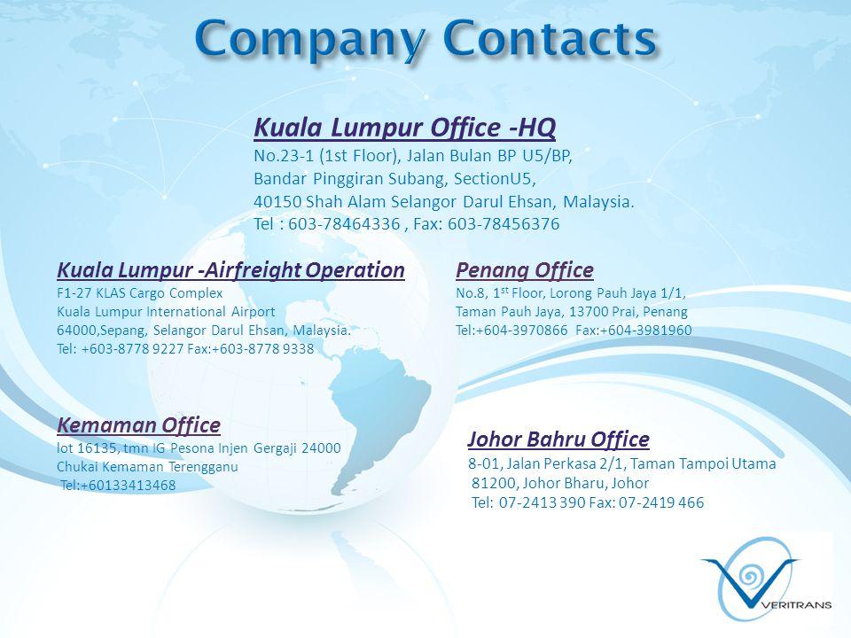 Kuala Lumpur Office -HQ No.23-1 (1st Floor), Jalan Bulan BP U5/BP, Bandar Pinggiran Subang, SectionU5, 40150 Shah Alam Selangor Darul Ehsan, Malaysia.