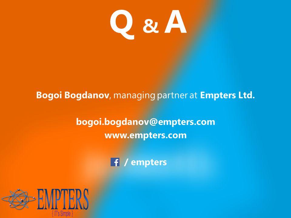 Nov 23, 2014 Q & A Bogoi Bogdanov, managing partner at Empters Ltd.