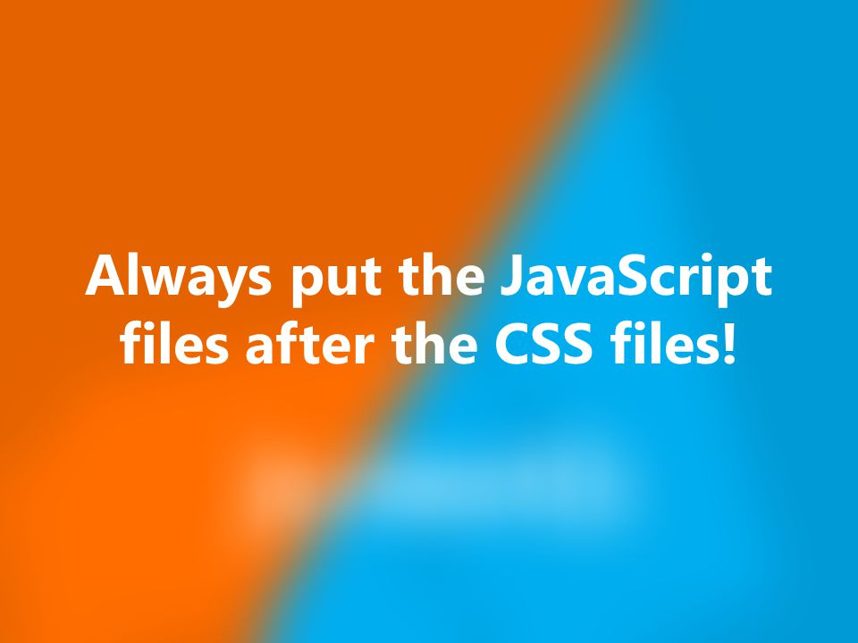Nov 23, 2014 It is better to have one big JavaScript file than many small files!