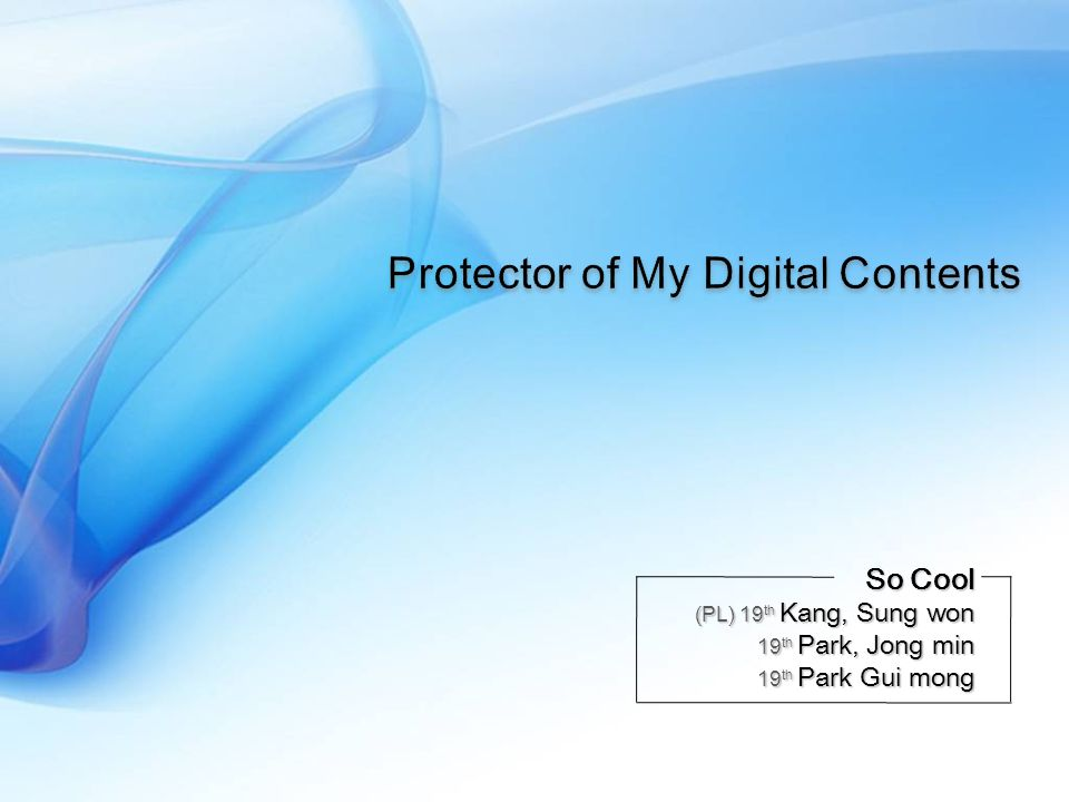Protector of My Digital Contents Busan Samsung Software Membership Keeper Driver (Self Defender) hFile hEvent ….