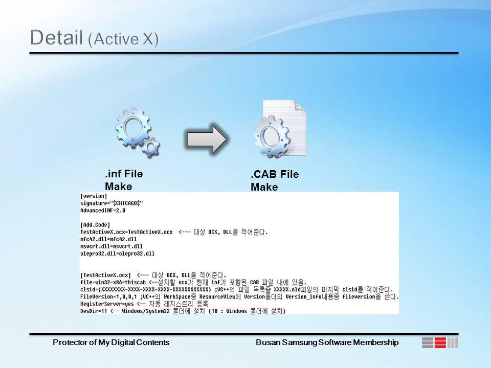 .inf File Make.CAB File Make