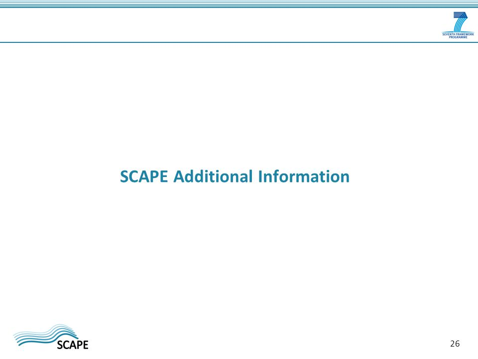 SCAPE Additional Information 26