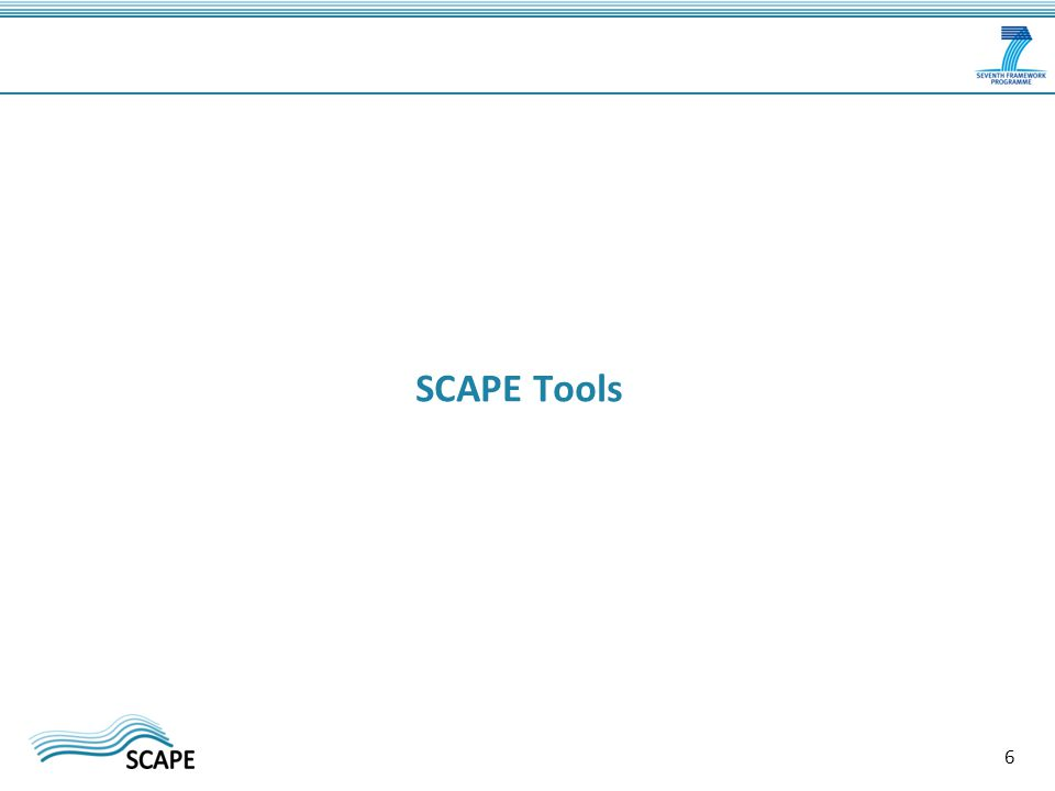 SCAPE Tools 6