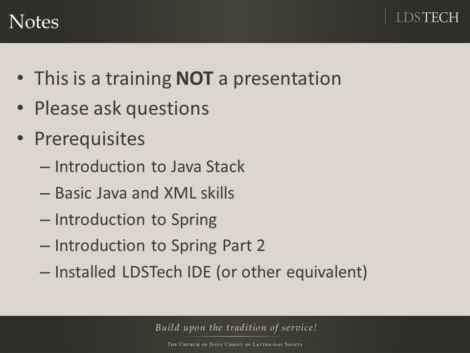 Lab 3: Spring Testing Integration https://tech.lds.org/wiki/Intermediate_Spring#Lab _3_Spring_Testing_Integration