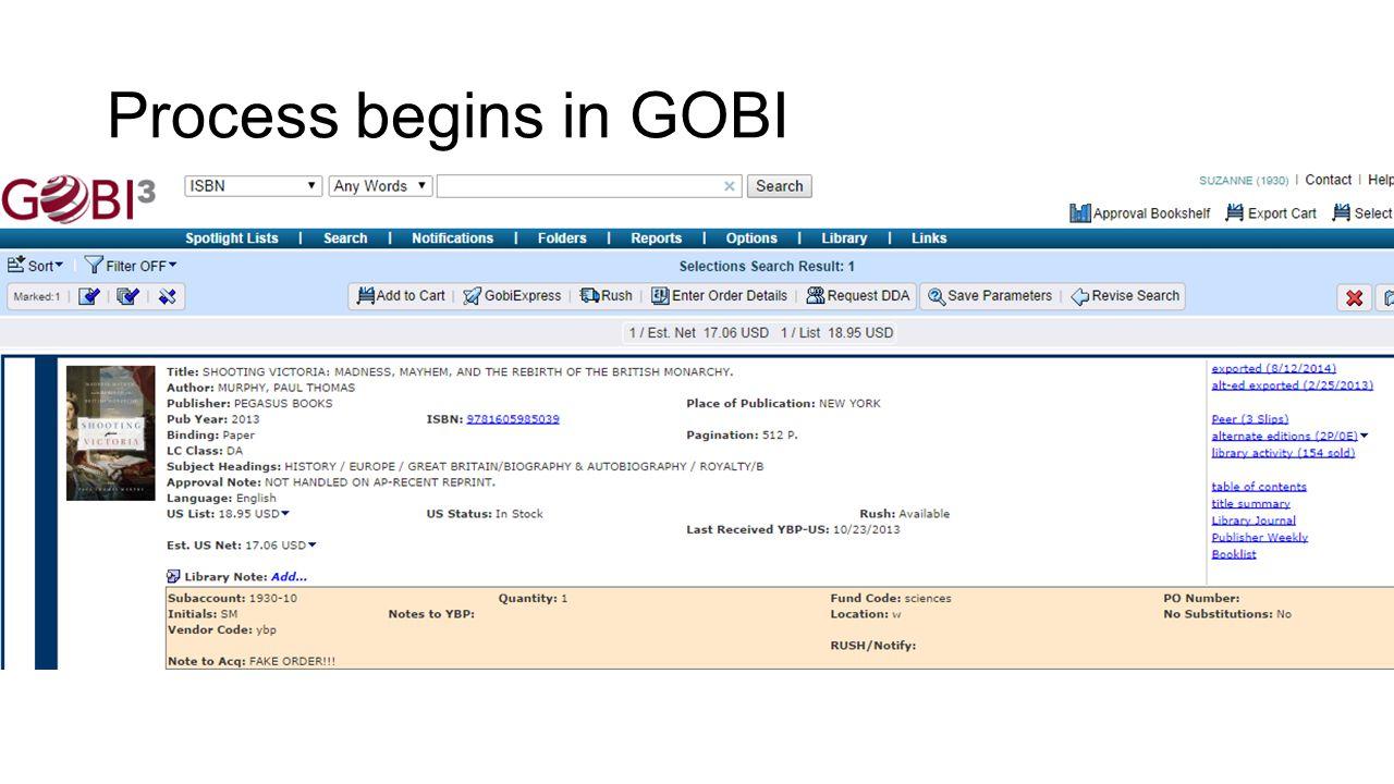 Process begins in GOBI