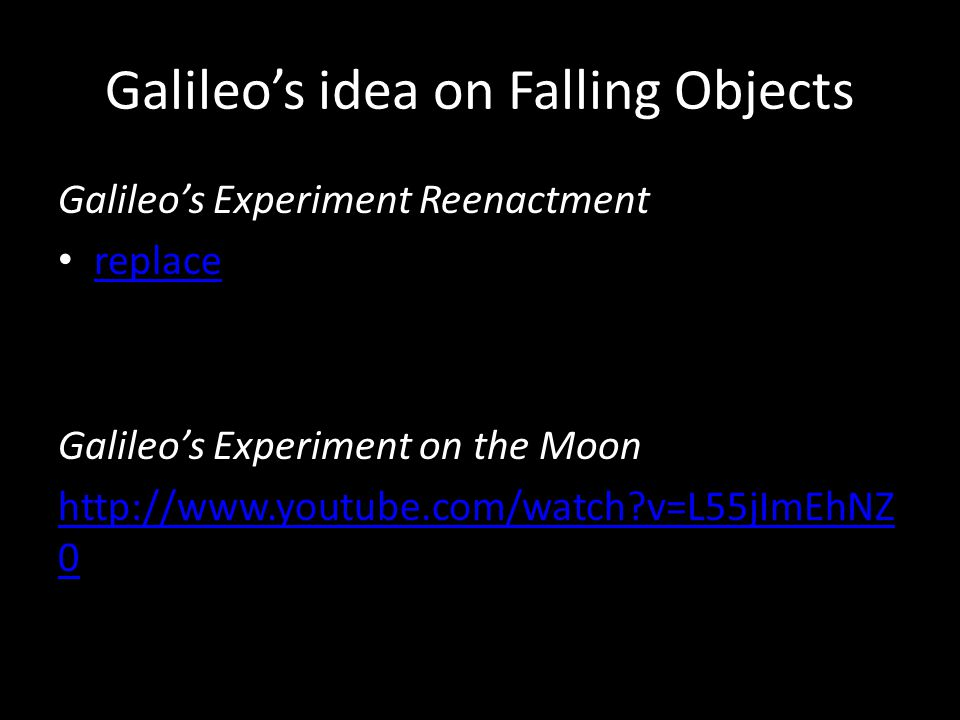Galileo s Observations Galileo used a telescope to make observations of objects that were too far or dim to see with the unaided eye.