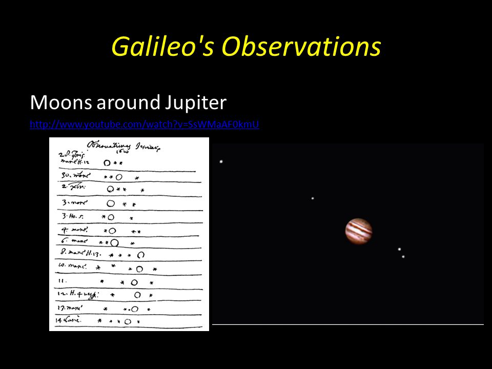 Galileo's Observations Ears on Saturn (it's rings) http://www.redorbit.com/news/video/space_2/2585 749/are_saturns_rings_disappearing/