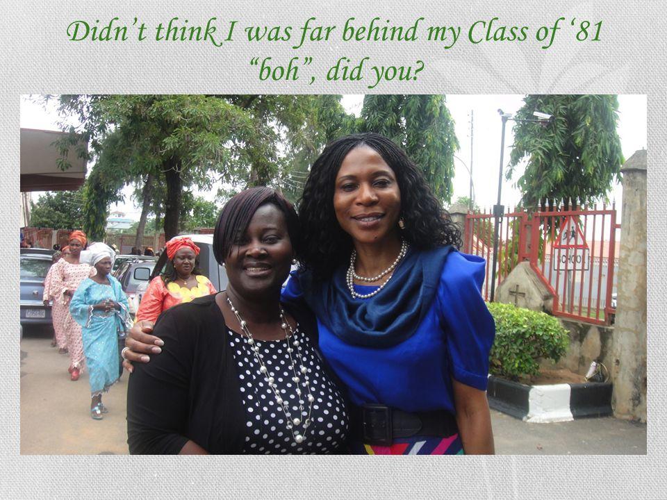 Sunday, July 8 th 2012, outside First Baptist Church, Garki - Abuja Class of '81's Mrs. Celine Muke Edimesumbe Loader buying the Sunday Paper!