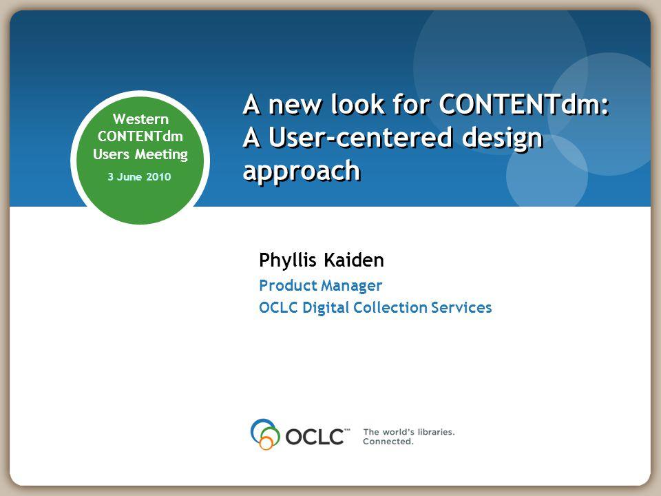 Thank you! Phyllis Kaiden kaidenp@oclc.org