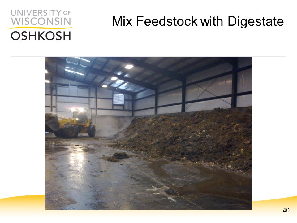 Mix Feedstock with Digestate 40