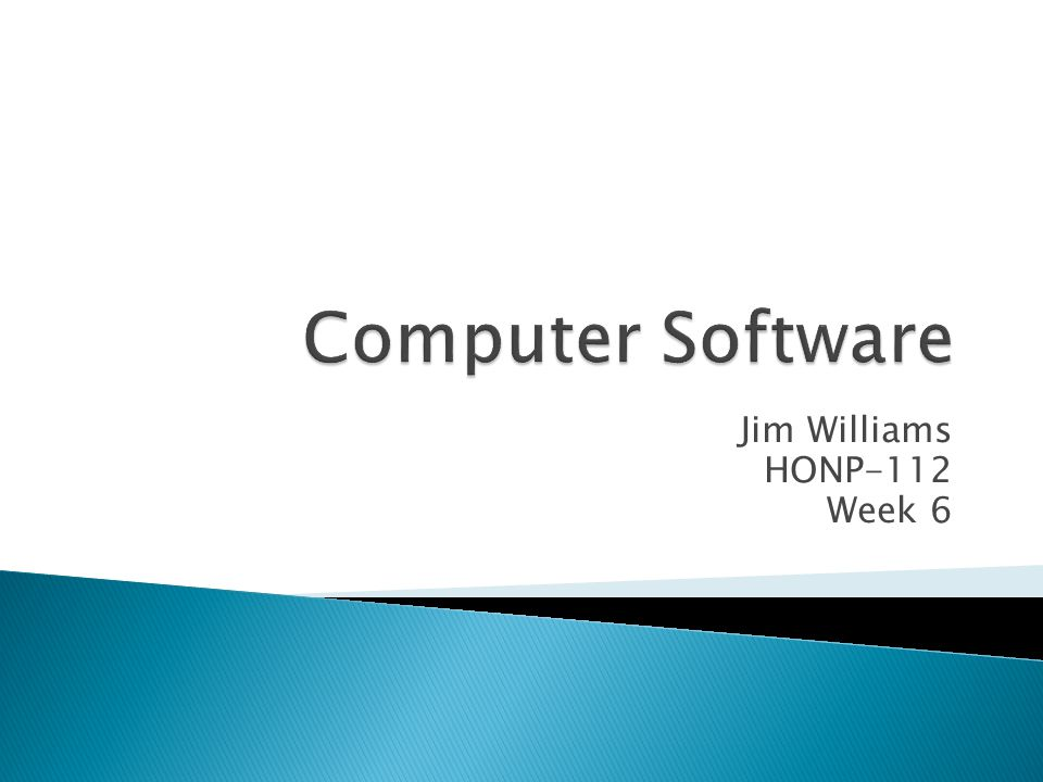 Jim Williams HONP-112 Week 6