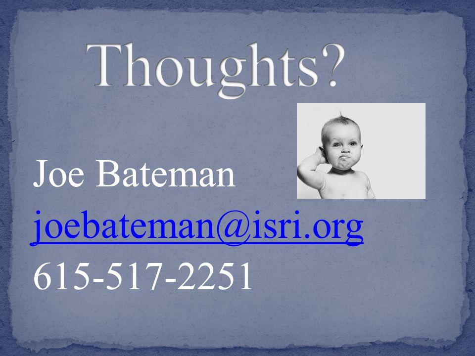 Joe Bateman joebateman@isri.org 615-517-2251