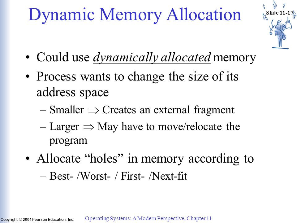 Slide 11-17 Copyright © 2004 Pearson Education, Inc.