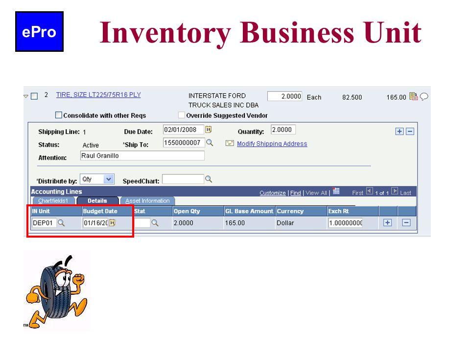 ePro Asset Information Tab