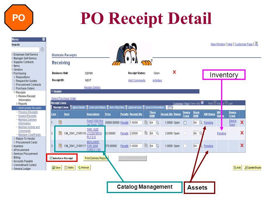 PO PO Receipt Process