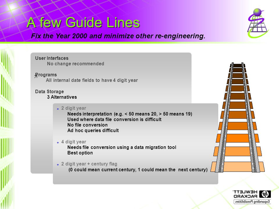 A few Guide Lines Fix the Year 2000 and minimize other re-engineering.