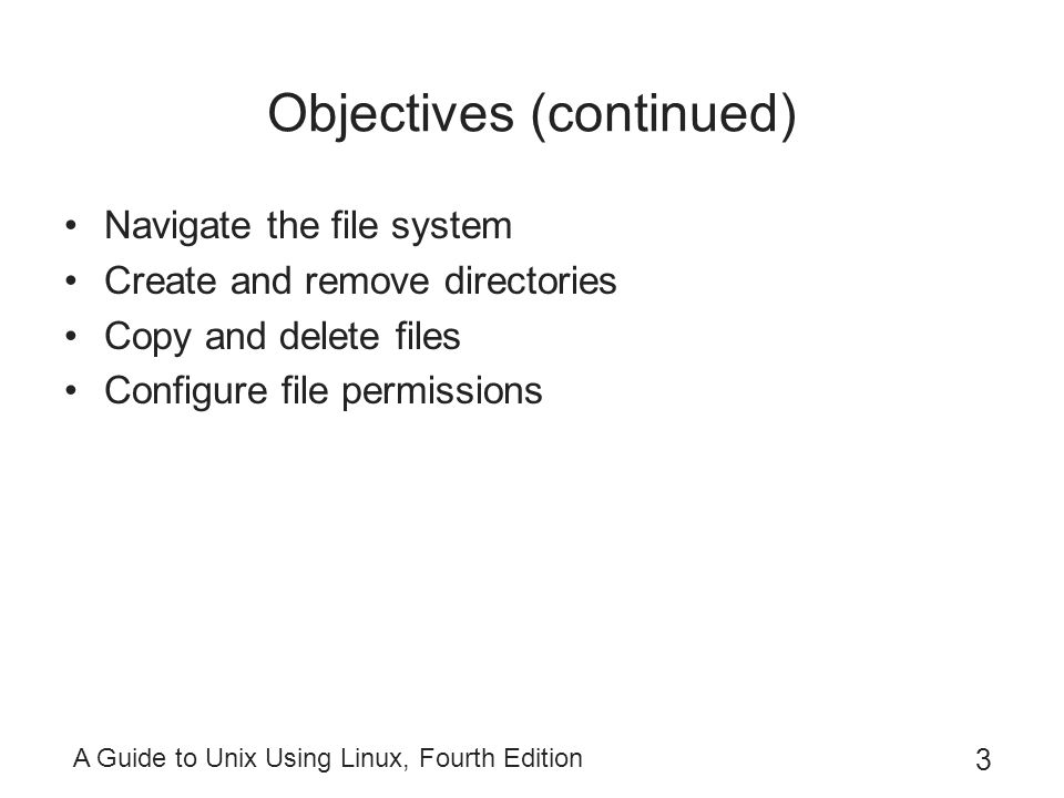 A Guide to Unix Using Linux, Fourth Edition 34 Using and Configuring Your Command-Line Prompt ~ is shorthand for the home directory