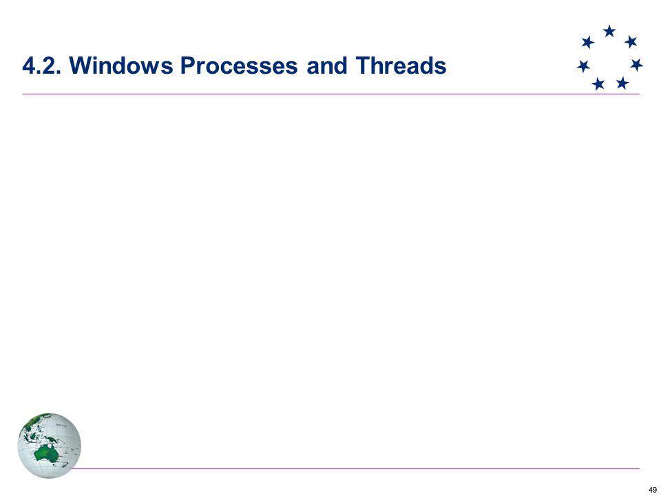 49 4.2. Windows Processes and Threads