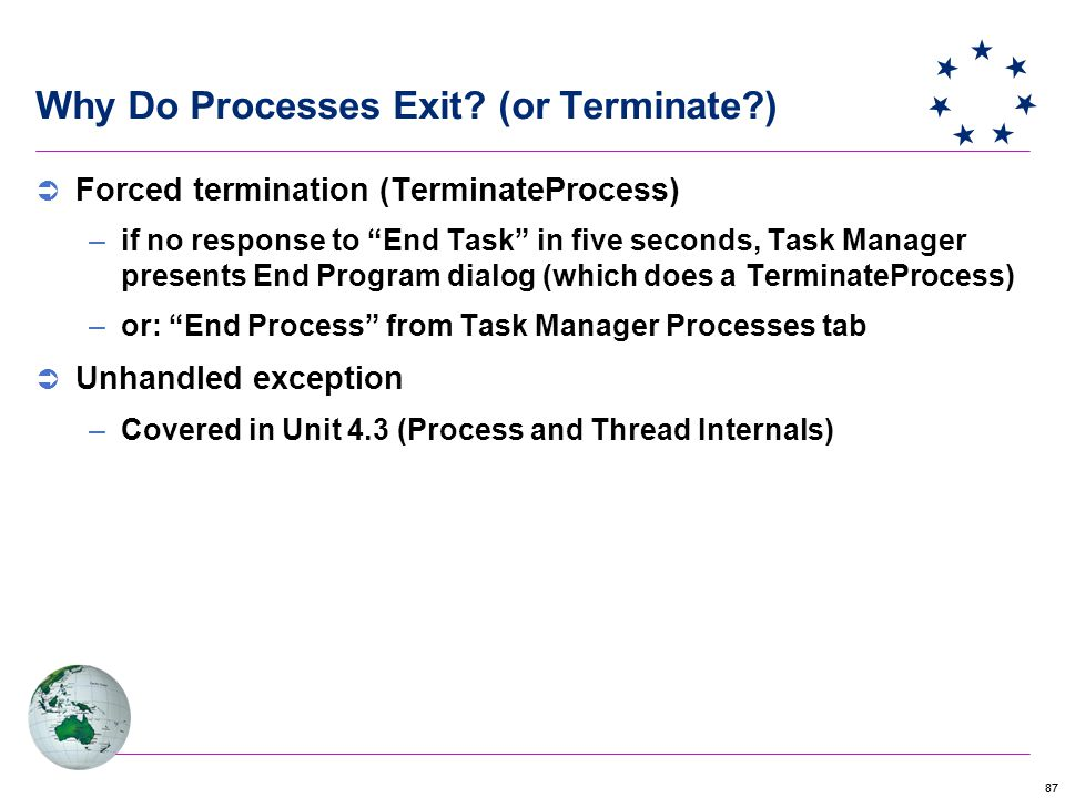 87 Why Do Processes Exit.