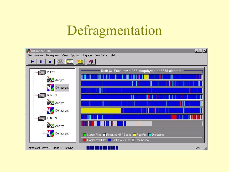 Defragmentation
