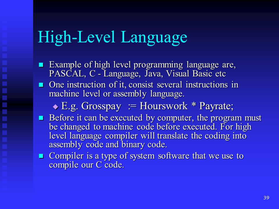 assembly language programs