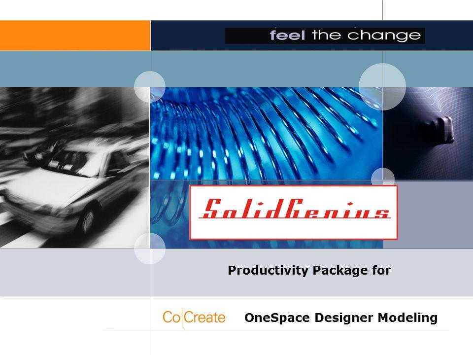 SolidGenius Productivity Package for OneSpace Designer Modeling